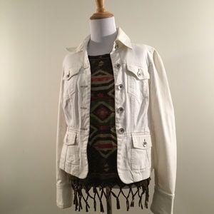 Calvin Klein White Tailored Denim Jacket
